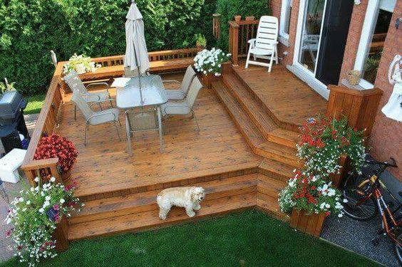 Lovely backyard decks
