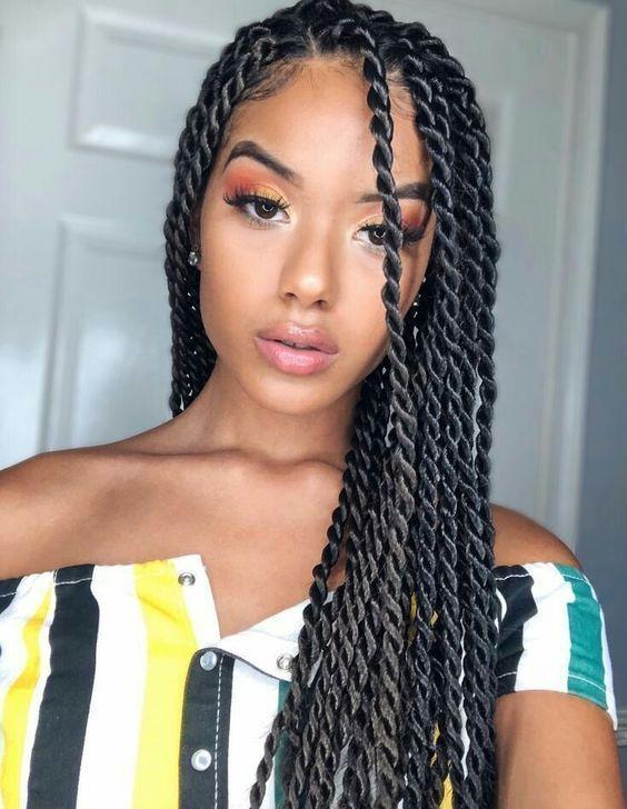 Dicke Cornrows Frisuren 25 Einfach Zu Machende Cornrow Geflochtene Frisuren Zum Twist Braid Hairstyles Senegalese Twist Hairstyles Braids For Black Hair
