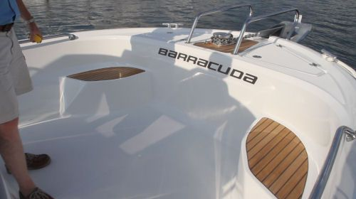 Beneteau Barracuda 9: This is an interesting feature that is usually seen only on much larger yachts. The crew is able to handle the ground tackle at waist height. This is an important feature that creates a considerable increase in the safety factor.