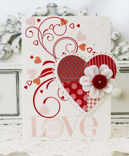 Make It Monday #96: Patchwork Die Cuts - Love Card by Melissa Phillips for Papertrey In (December 2012)
