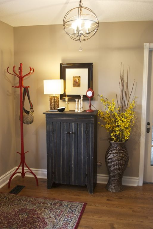 Perfect greige by sherwin williams kitchen entryway for Perfect paint color for kitchen