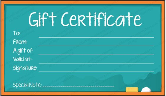Gift Certificate for Services Template Download Options for - fitness gift certificate template