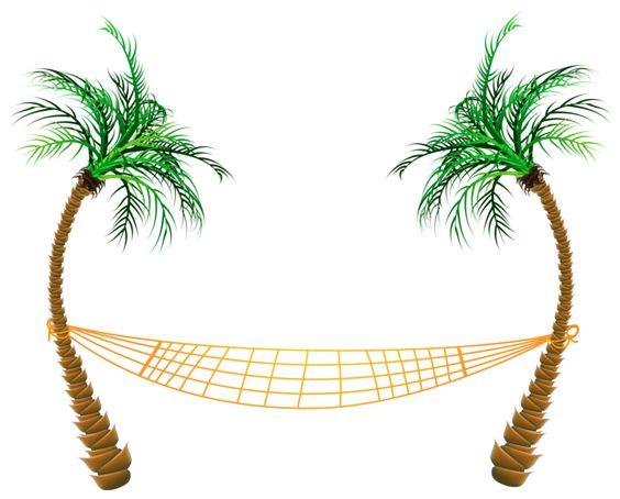 Transparent Palm Beach Hammock PNG Clipart