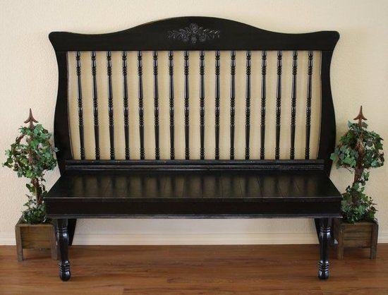 Antique-esque-Bench (repurposed baby bed rail)