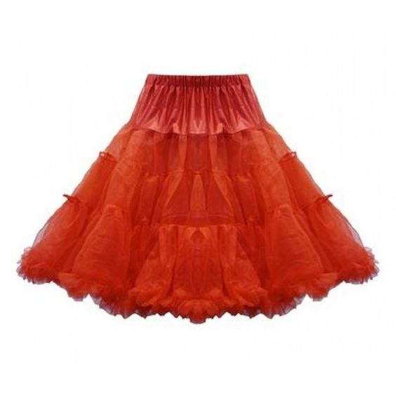Rode lange petticoat - vintage, 50's, rockabilly, retro - 4XL/6XL (NL 48-52) - Lindy Bop