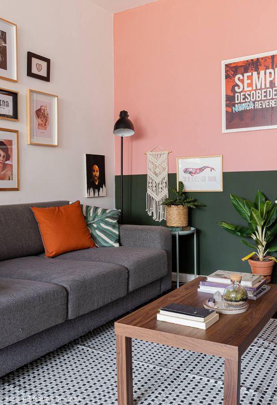Dicas e inspirações para sua sala de estar - colorida