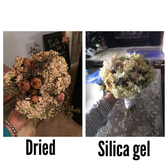 Drying Bridal Bouquet Silica Gel : Preserve the flowers and o jays on