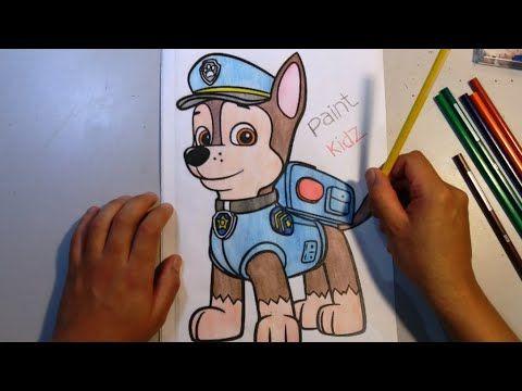 Colorindo O Desenho Do Chaise Patrulha Canina Paw Patrol Video De Colorir Para Criancas Youtube Paw Patrol Videos Paw Patrol Painting