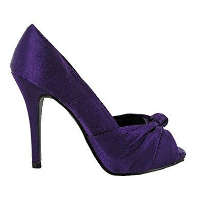 purple high heel shoes uk | New Ladies Purple Satin High Heel ...