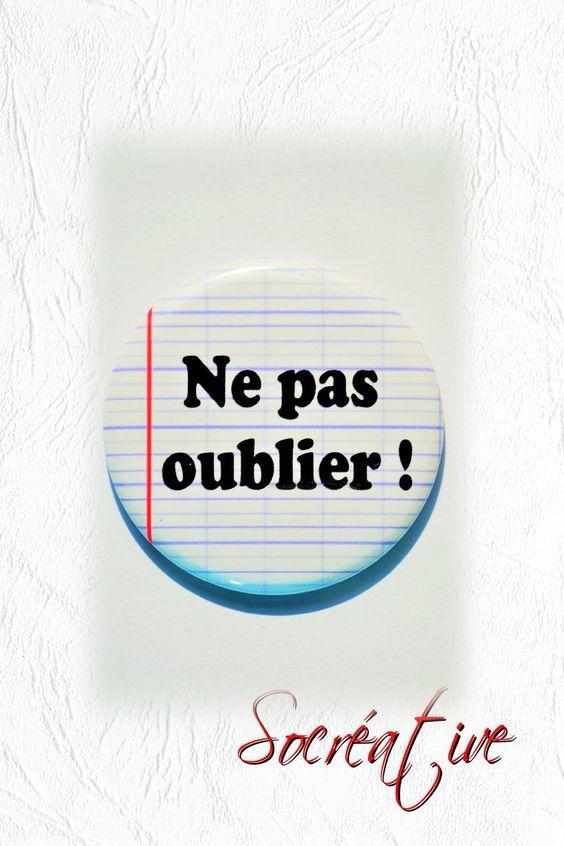 """Badge Magnet """" Ne pas oublier !"""" #BADGE MAGNET 56mm : Accessoires de maison par socreative"""