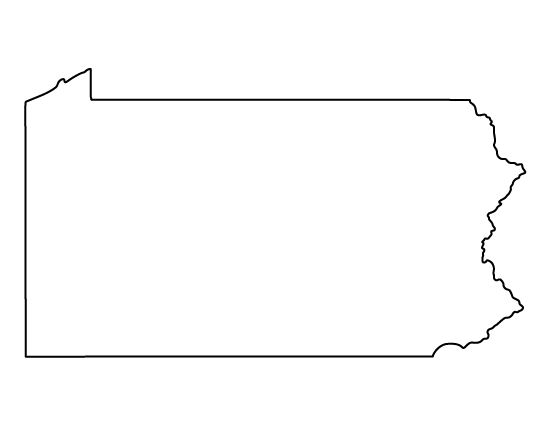 Pennsylvania pattern Use the printable outline for crafts - blank outline template