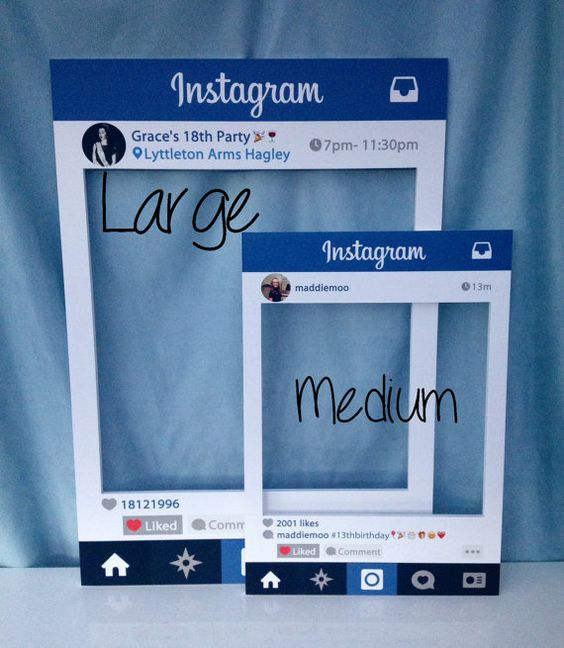 Large/medium Personalised Instagram photo booth by InstaFrameUK