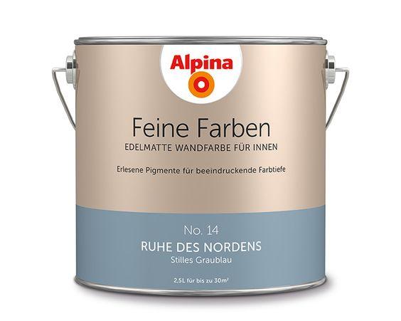 """Alpina Feine Farben """"Ruhe des Nordens"""": Dieses stille Graublau ..."""