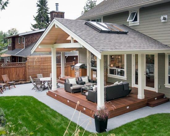 Top 40 Best Deck Roof Ideas Covered Backyard Space Designs Covered Patio Design Patio Design Backyard Patio Designs