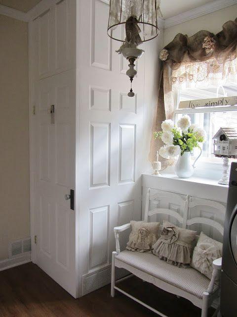 Junk Chic Cottage -- doors to hide water heater