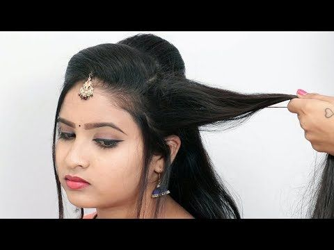 Perfect Party Look Hairstyles For Saree With Short To Long Hair 2019 Youtube In 2020 Hair Videos Long Hair Styles Bridal Hair Decorations
