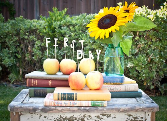 celebrating the first day of school | cake toppers or apple toppers? | lisa leonard designs