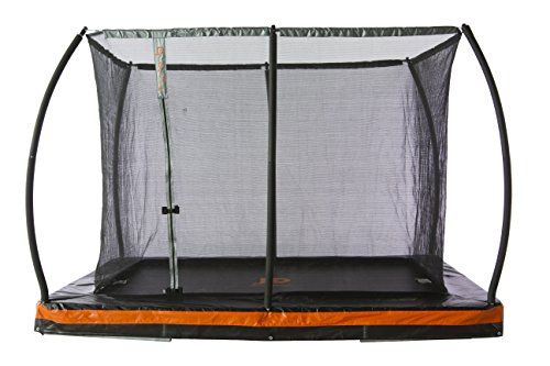 10ft X 7 5ft In Ground Rectangular Trampoline With Pate With Images Rectangular Trampoline