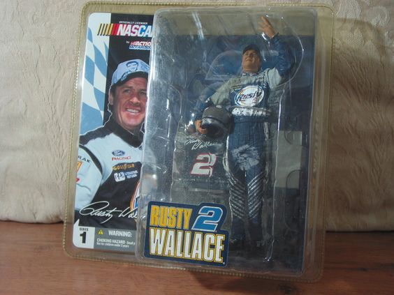 RUSTY WALLACE 2003 Nascar Elvis Presley Uniform McFarland Toys Action Figure   https://ajunkeeshoppe.blogspot.com/
