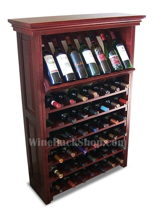 49 Bottle Wine Rack Display Cabinet Mahogany Finish In 2020