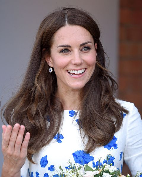 Catherine Duchess of Cambridge visits the national youth charity Youthscape at Bute Mills on August 24 2016 in Luton England