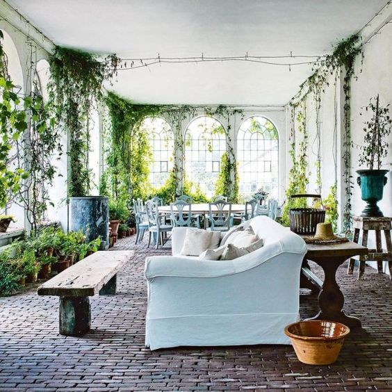 Axel Vervoordt-garden room-Another garden room at Axel Vervoordt's s'Gravenswesel compound in Belgium. From Vogue Living. Photography by Michael Paul:
