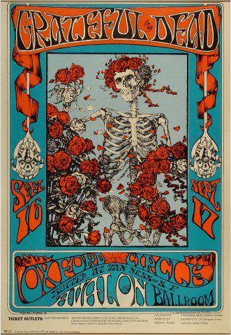 Grateful Dead Poster Avalon Ballroom (San Francisco, CA) Sep 16, 1966