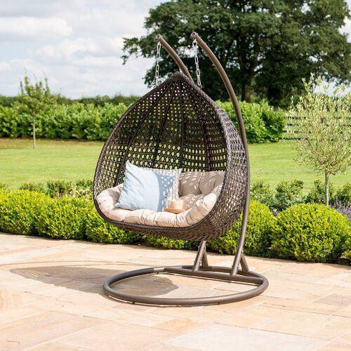 Sol 72 Outdoor Maumee Swing Chair With Stand In 2020 Hangesessel Garten Rattan Gartenmobel Gartenmobel Design