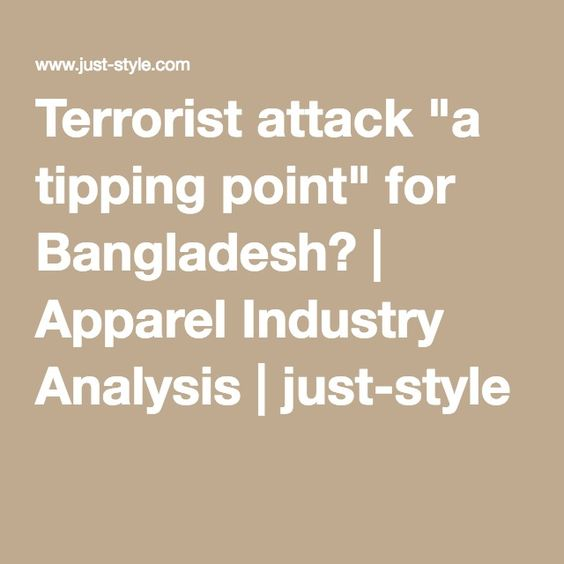"Terrorist attack ""a tipping point"" for Bangladesh? 