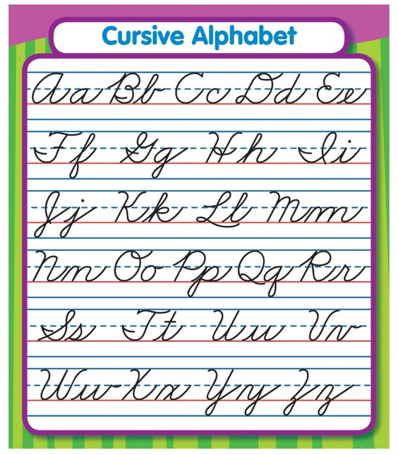 Worksheets Pinakatay Alphabet cursive alphabet chart and charts on cdwish13 study are the perfect size for binders notebook cover