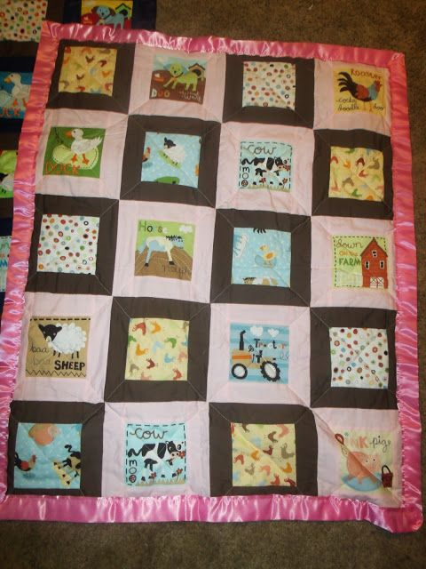 Custom order toddler quilt Made by Heather Miller of Laundry Room Quilts
