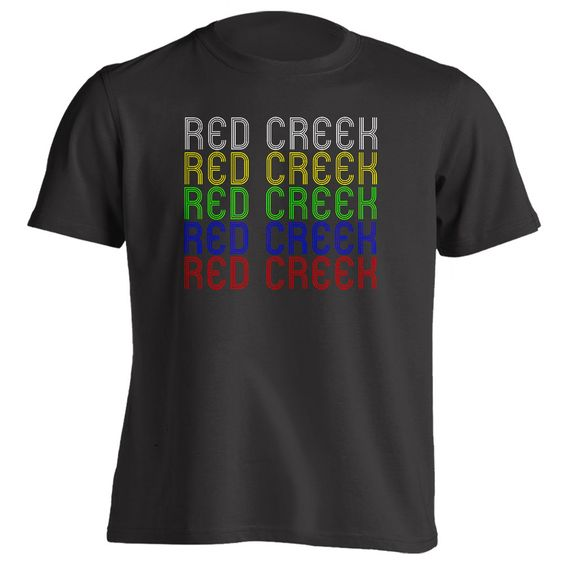 Retro Hometown - Red-Creek, NY 13143 - Black - Small - Vintage - Unisex - T-Shirt
