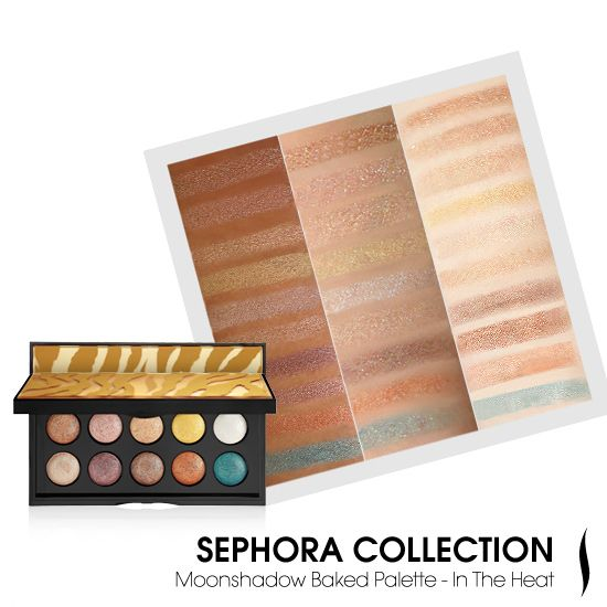 SEPHORA COLLECTION Moonshadow Baked Palette - In the Heat #SummerPalettes #Sephora #eyecandy