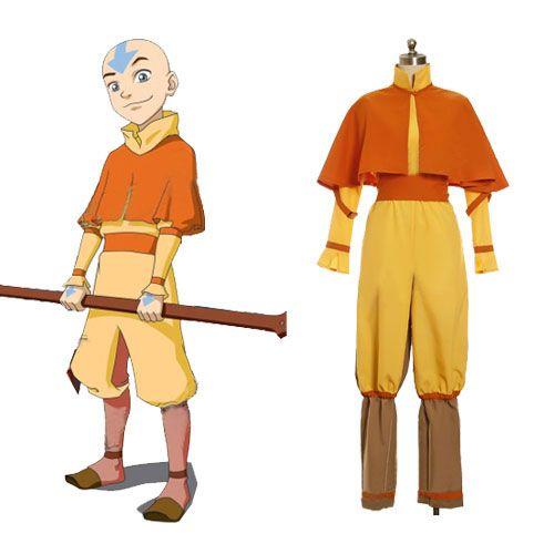 Avatar The Last Airbender Cosplay Aang Costume, Avatar Cosplay Costumes, Cosplay Costumes: