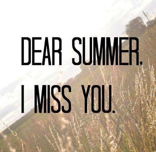 Dear Summer...