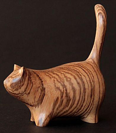 Картинки по запросу Минималистичные деревянные скульптуры котов от Рerry Lancaster