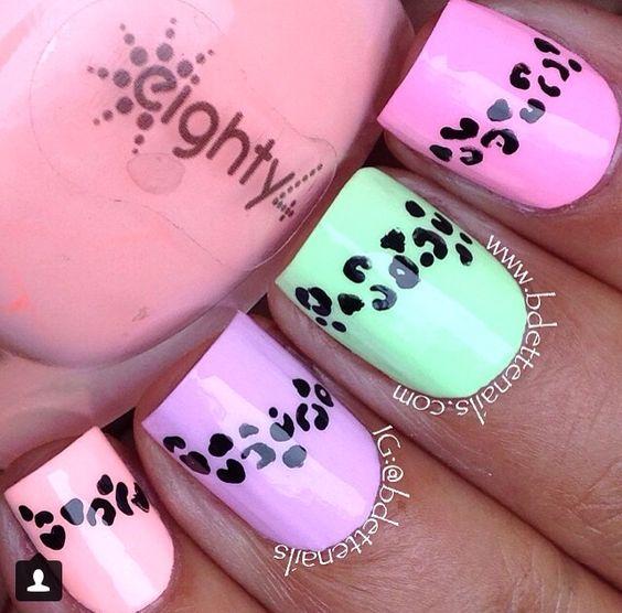 Pastel with cheetah print