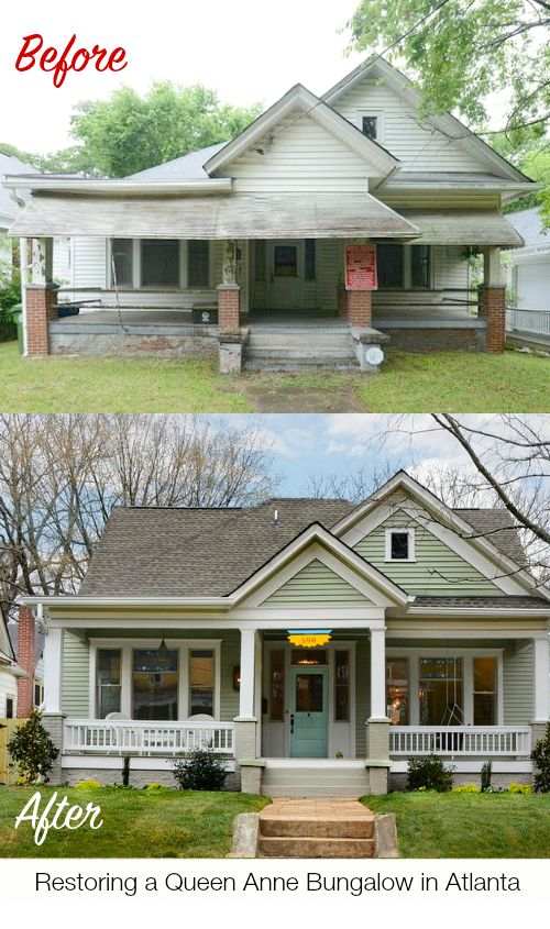 #BeforeAfter Restoring a Queen Anne Bungalow in Atlanta | #primaedopo