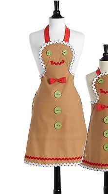 Jessie Steele GINGERBREAD MAN Bib Cooking Chef Apron 40's 50's vintages inspired: