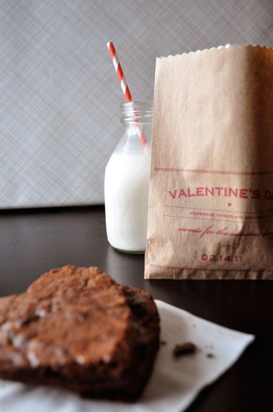 Brownie bag: Brownie Bag, Printable Valentine, Valentine Bag, Diy Valentine