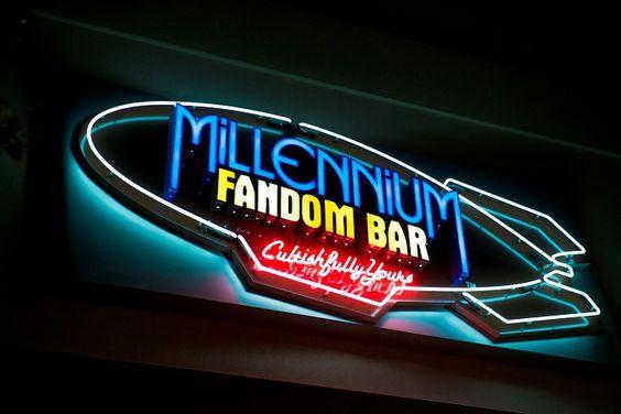 Millennium Fandom Bar - Sign