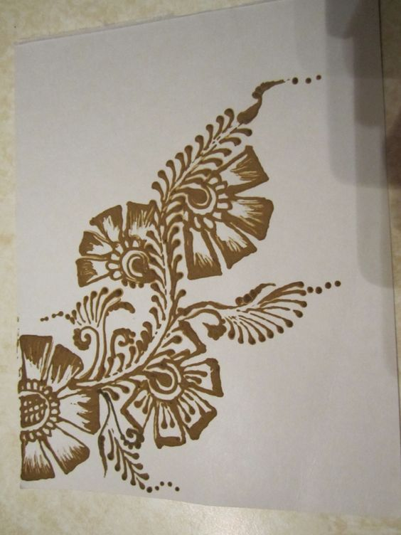 Henna -freehand creation