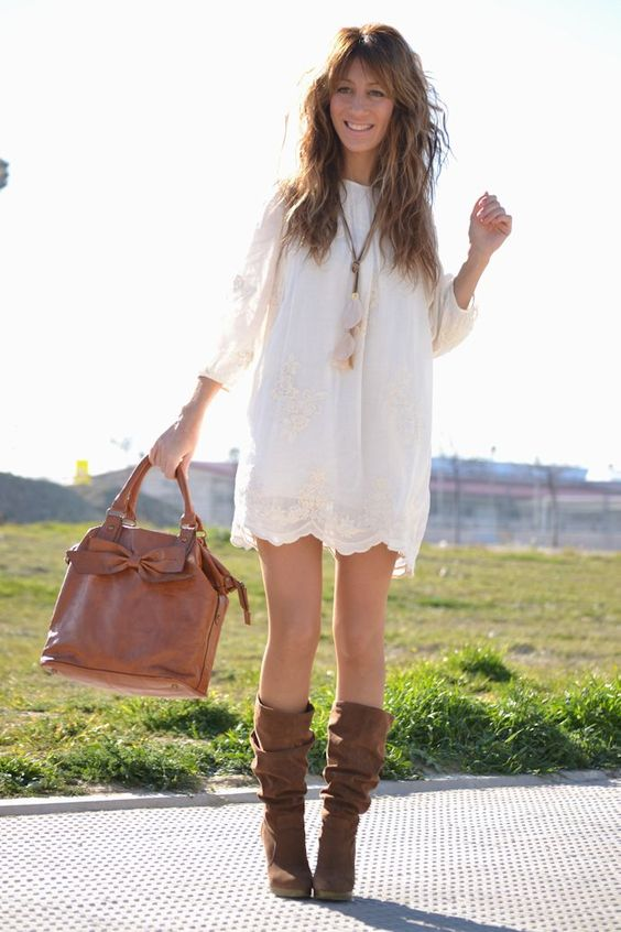 MODA - BOHO - Yes to the dress- And dresses and Boots
