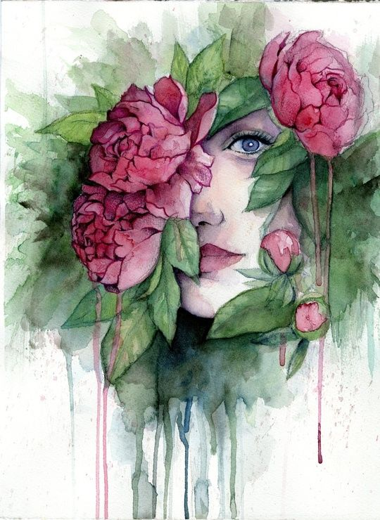 Hidden I - watercolors, inprnt, illustration, print, poster, art