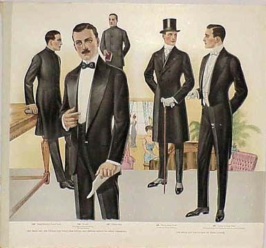 1915-1916 - Menswear - show more the lines of the body: