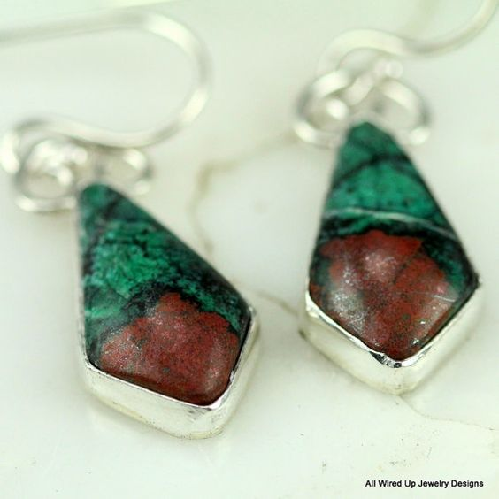 Sonoran Sunrise Sterling Earrings  Red and Turquoise by PPennee, $89.00