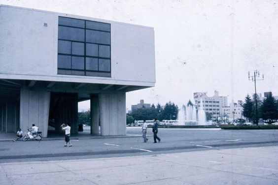 Hiroshima Peace Memorial Park, Kenzo Tange, 1955.