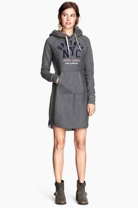 Vestido sudadera con capucha | Ropa mujer | Pinterest