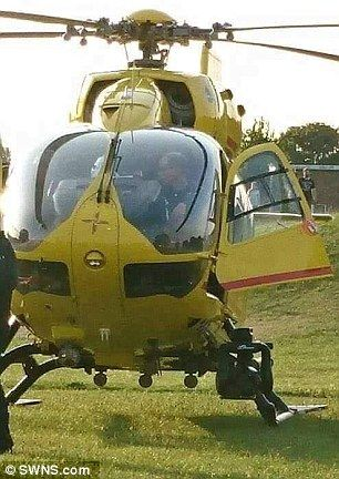 Pictures show the prince sitting in the cockpit after the helicopter landed in a field