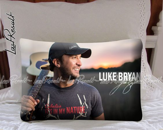 Luke Bryan Its In My Nature on Decorative Pillow by TheLastResult, $16.50